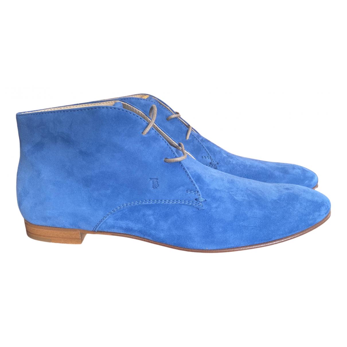 Tods \N Stiefeletten in  Blau Veloursleder