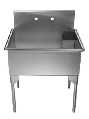 WHLS3024-NP Pearlhaus square  single bowl commerical freestanding utility
