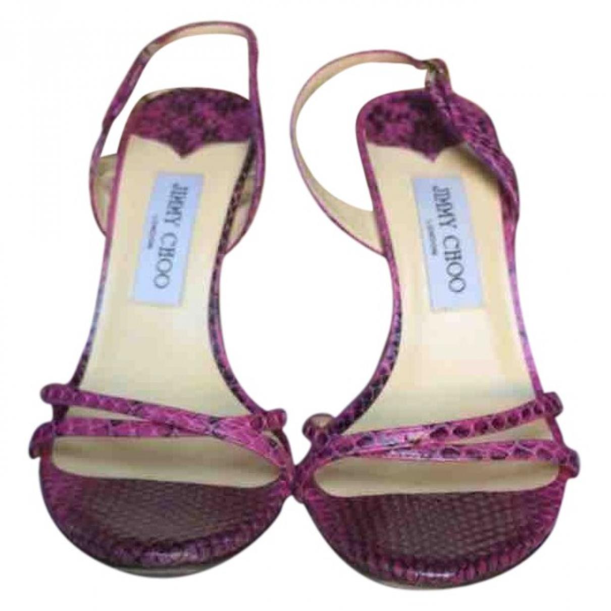 Jimmy Choo \N Pink Python Sandals for Women 38 EU