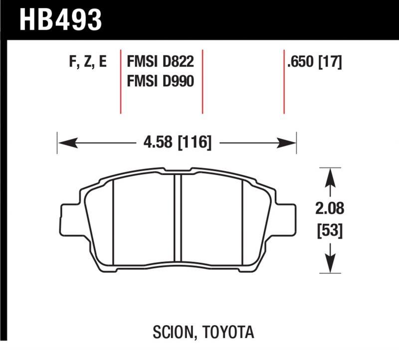 Hawk Performance HB493Z.650 Disc Brake Pad Front