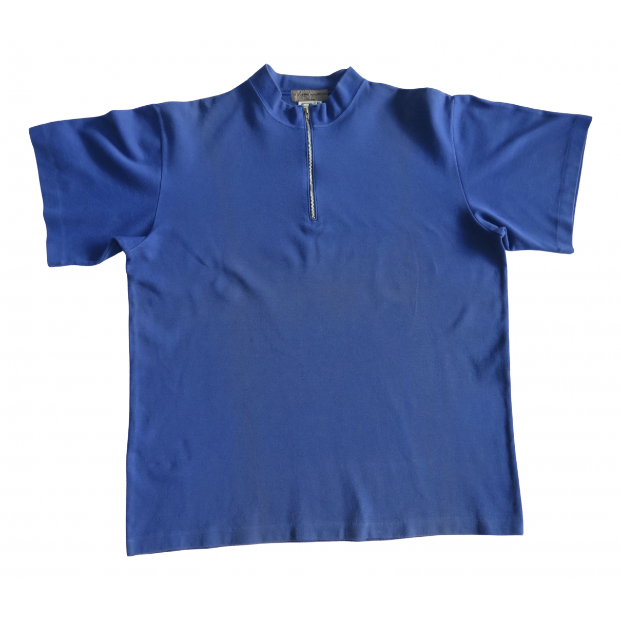 Yohji Yamamoto \N Poloshirts in  Blau Baumwolle