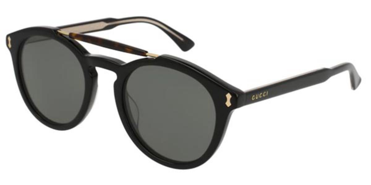 Gucci GG0124S 001 Men's Sunglasses Black Size 50 - Free RX Lenses