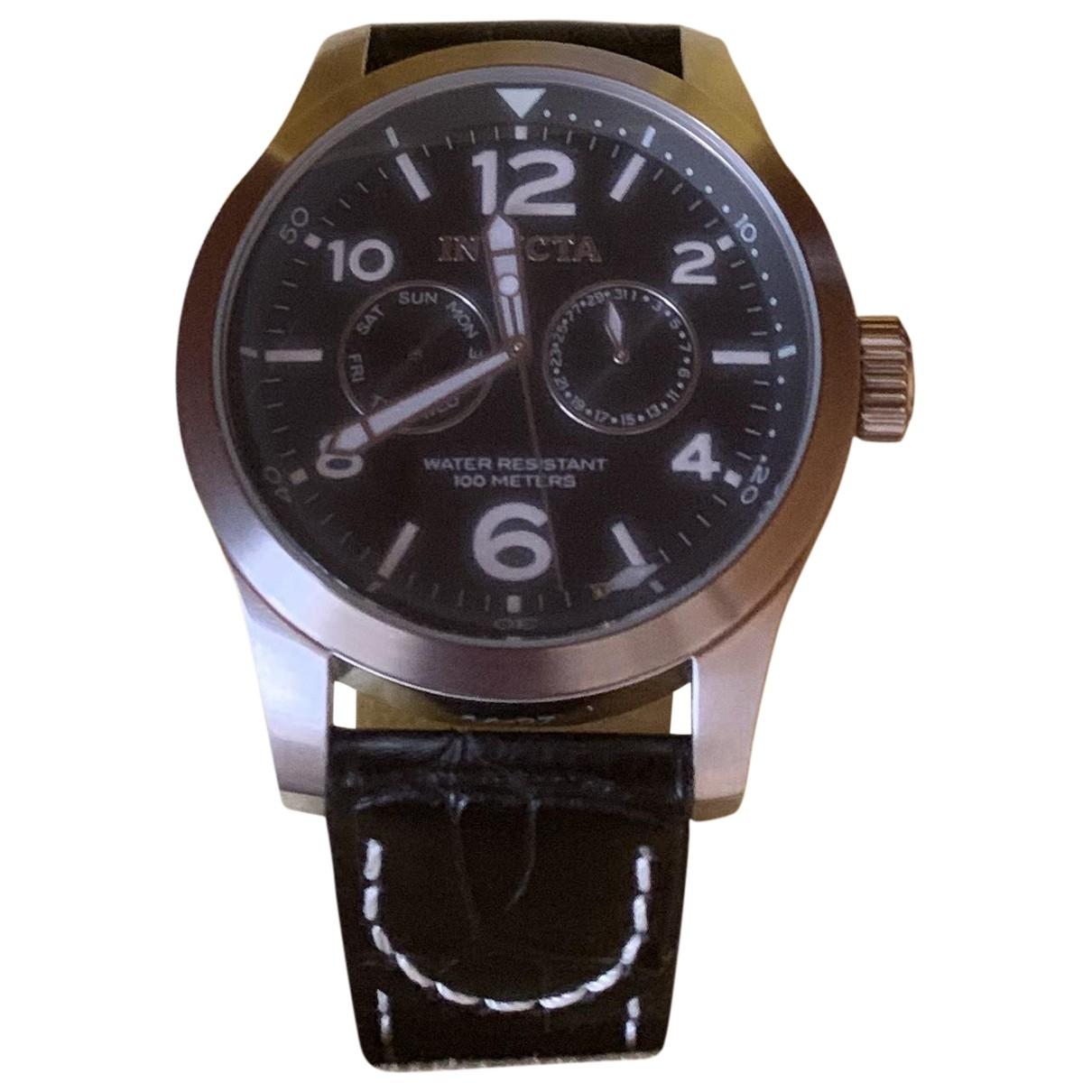 Invicta \N Uhr in  Schwarz Stahl