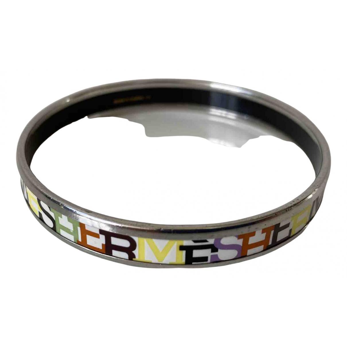 Hermes - Bracelet Bracelet Email pour femme en argent - multicolore