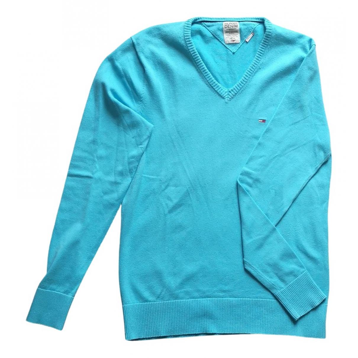 Tommy Hilfiger \N Pullover.Westen.Sweatshirts  in  Tuerkis Baumwolle