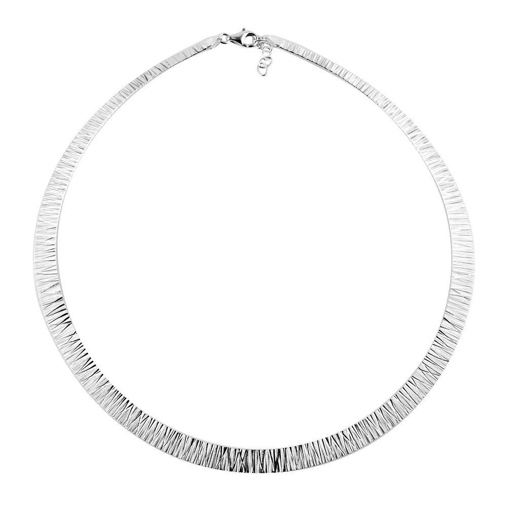 925 Sterling Silver Necklace Size 17 Inch - Size 17'' (White - White - Size 17'')