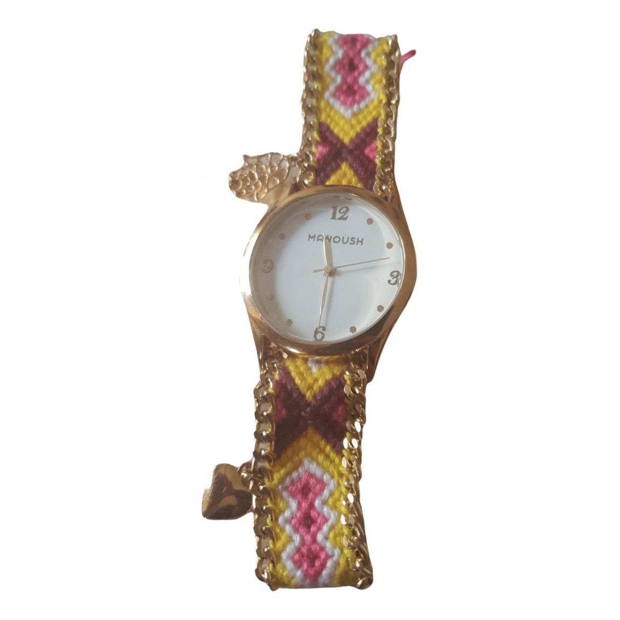 Manoush \N Uhr in  Bunt Stahl