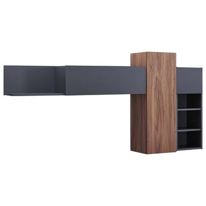 Scope Collection EEI-3440-WAL-GRY Scope Wall Mounted Shelves in Walnut Gray