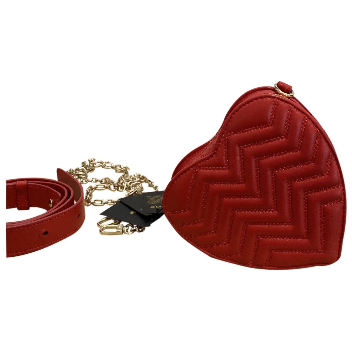 Maje N Red Leather Clutch bag for Women N