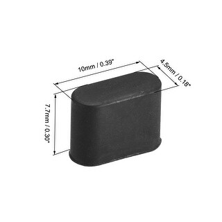 Type-c Male Port Dust Cover Protector Silicone for Type-c Cable, Black 15Pcs (Black)