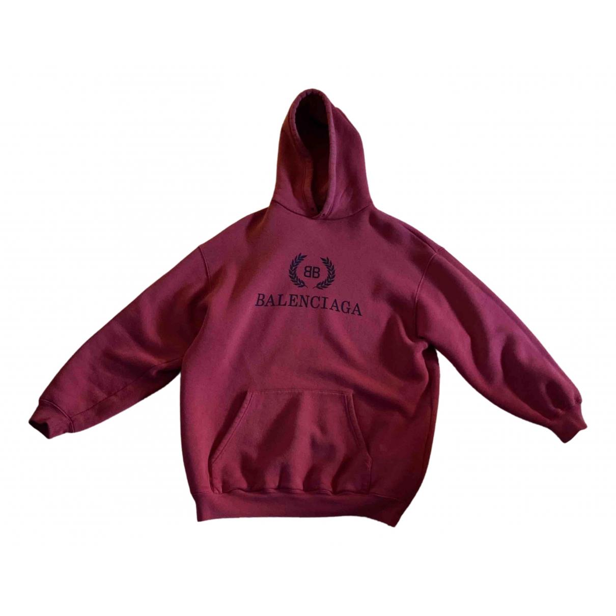 Balenciaga \N Pullover.Westen.Sweatshirts  in  Rot Baumwolle