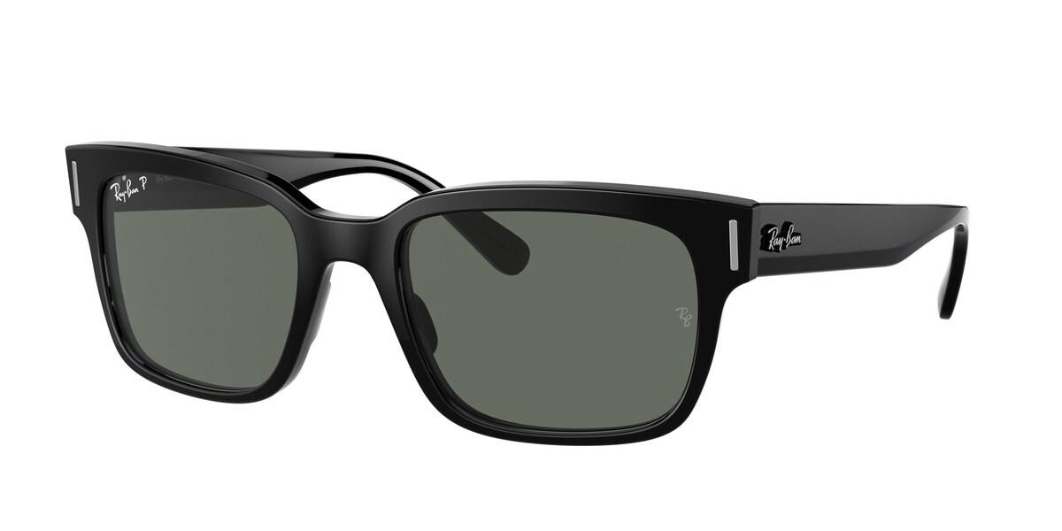 Ray-Ban RB2190 Jeffrey Polarized 901/58 Men's Sunglasses Black Size 53