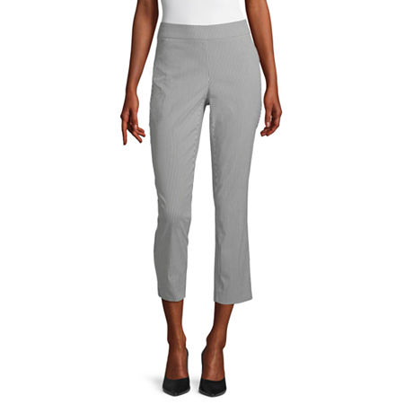 Liz Claiborne Womens Slim Pull-On Pants, 8 , Black