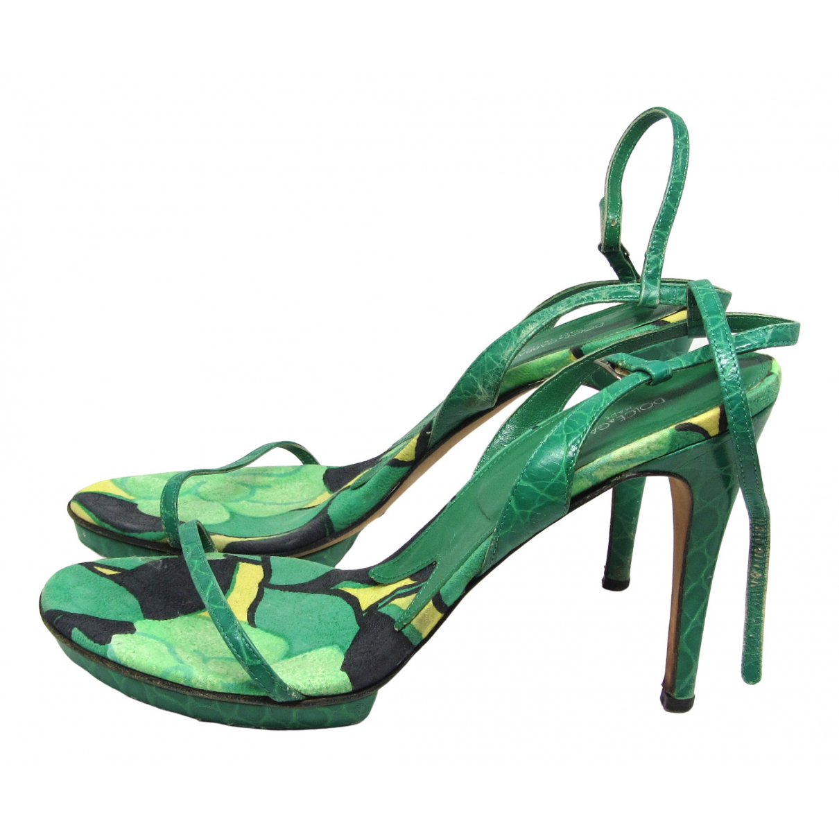 Dolce & Gabbana \N Green Leather Heels for Women 40 EU