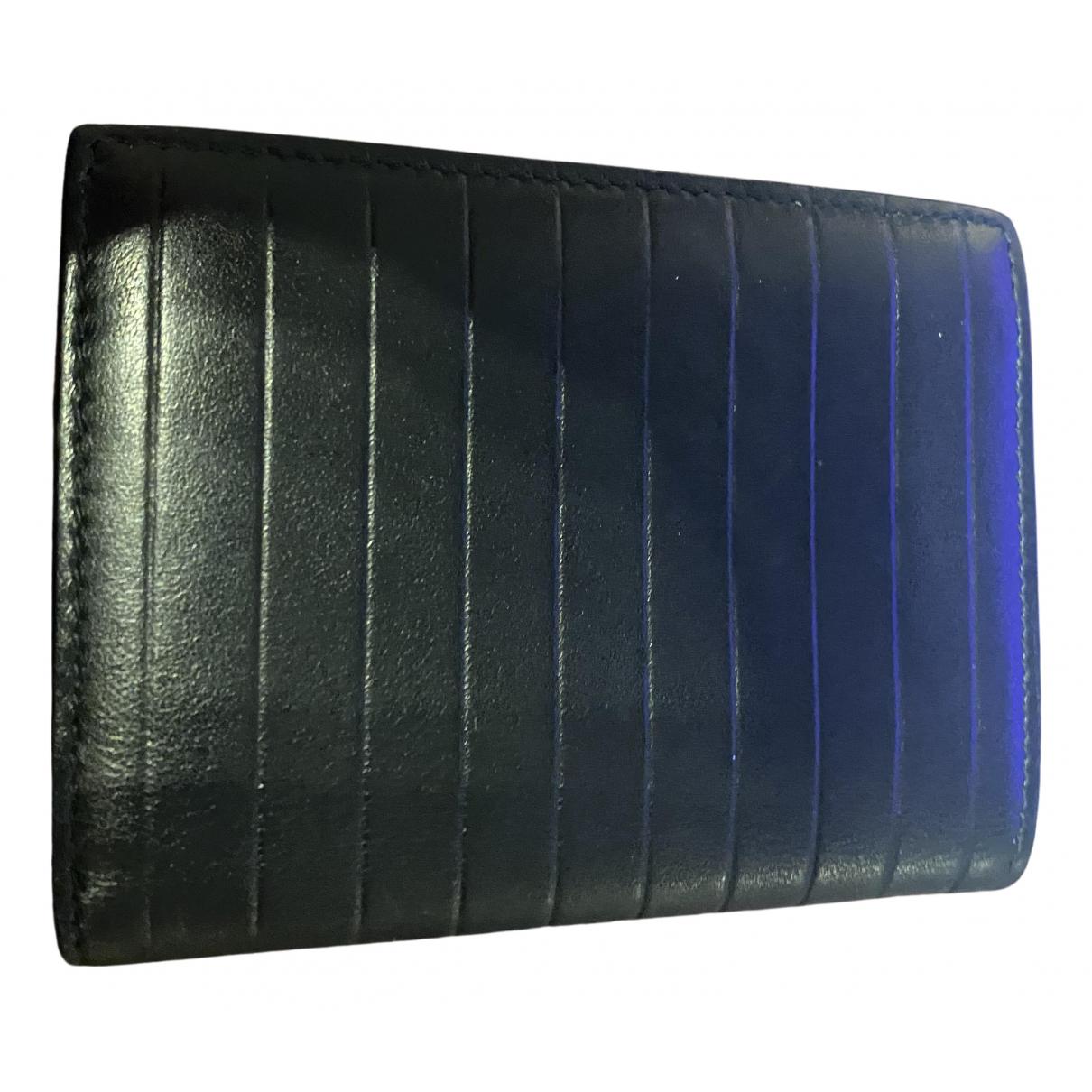 Dior Homme \N Kleinlederwaren in  Schwarz Leder