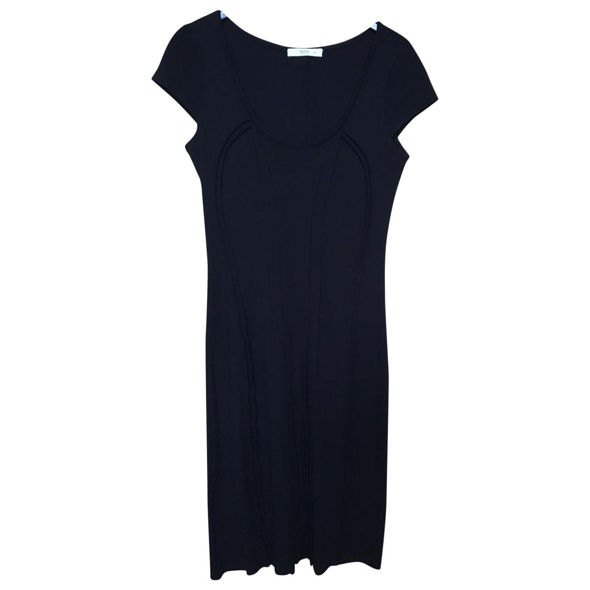 Prada \N Kleid in  Schwarz Baumwolle - Elasthan