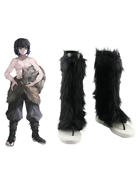Milanoo Demon Slayer Kimetsu No Yaiba Hashibira Inosuke Boots Anime Cosplay Shoes