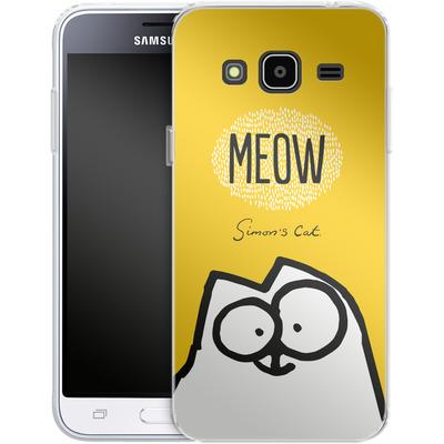 Samsung Galaxy J3 (2016) Silikon Handyhuelle - Meow Yellow von Simons Cat