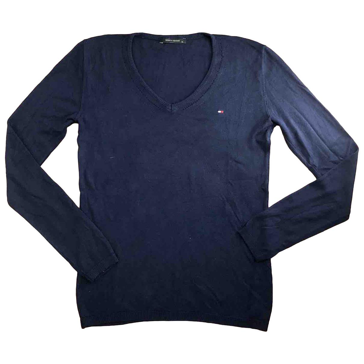 Tommy Hilfiger N Blue Cotton Knitwear for Women XL International