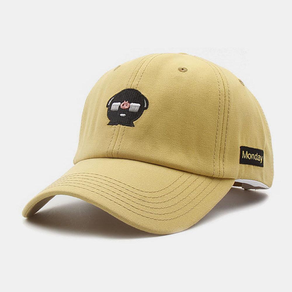 Unisex Cotton Embroidery Cartoon Pattern Sunscreen Casual Couple Hat Baseball Hat