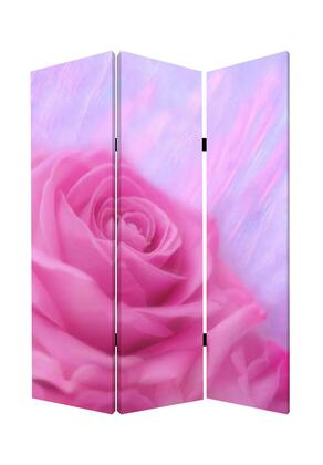 BM26537 3 Panel Foldable Canvas Screen with Rose Print