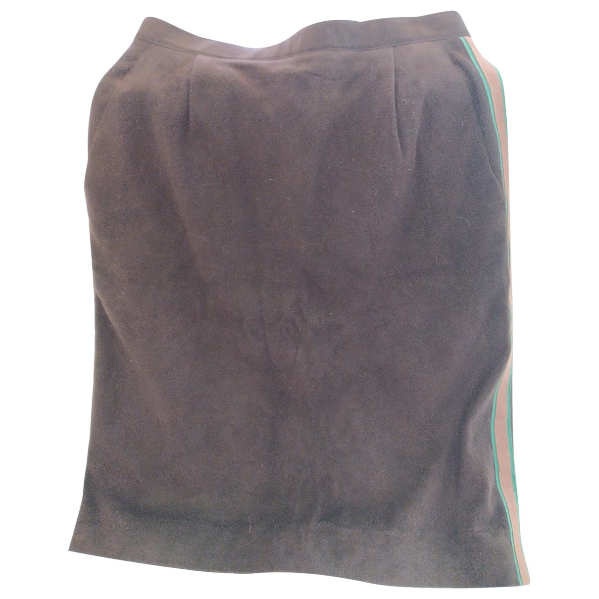 Chanel N Brown Leather skirt for Women 40 FR