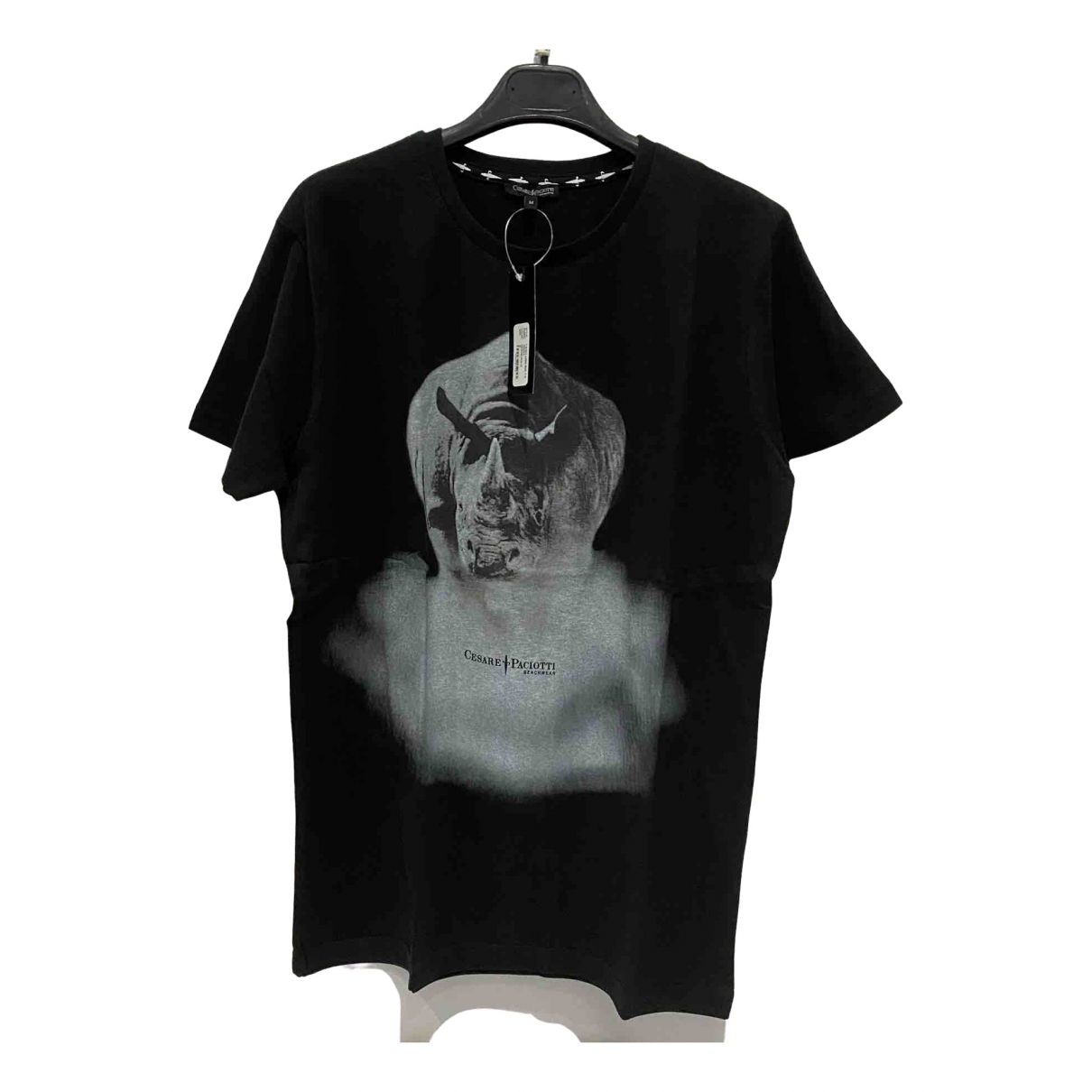 Cesare Paciotti \N Black Cotton T-shirts for Men XL International