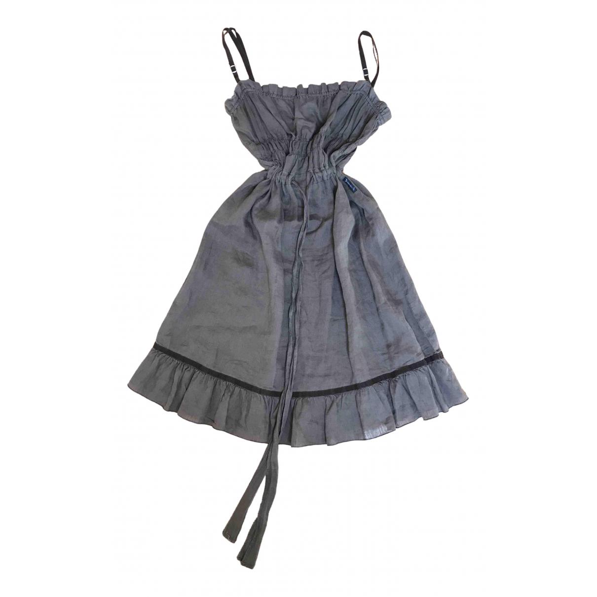 Armani Jeans \N Brown Linen dress for Women 42 IT