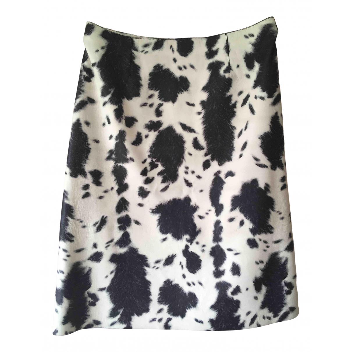 Falda midi de Cuero Burberry