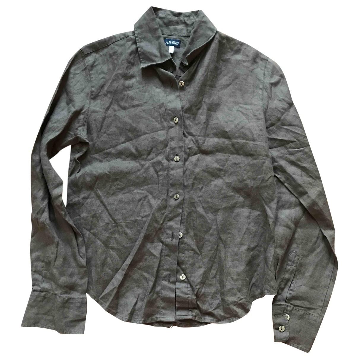 Armani Jeans \N Khaki Linen  top for Women 42 IT