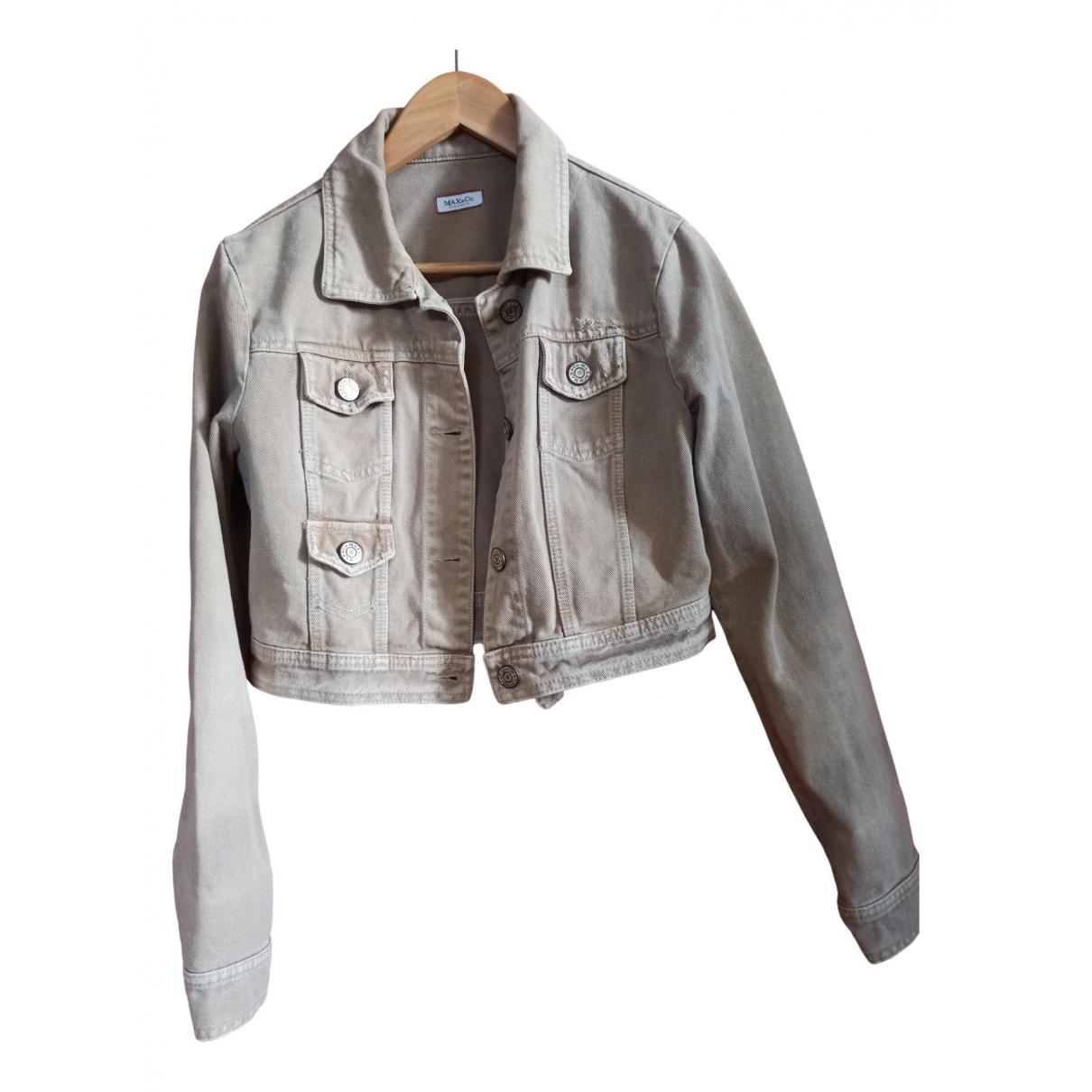 Max & Co \N Beige Denim - Jeans jacket for Women 44 IT