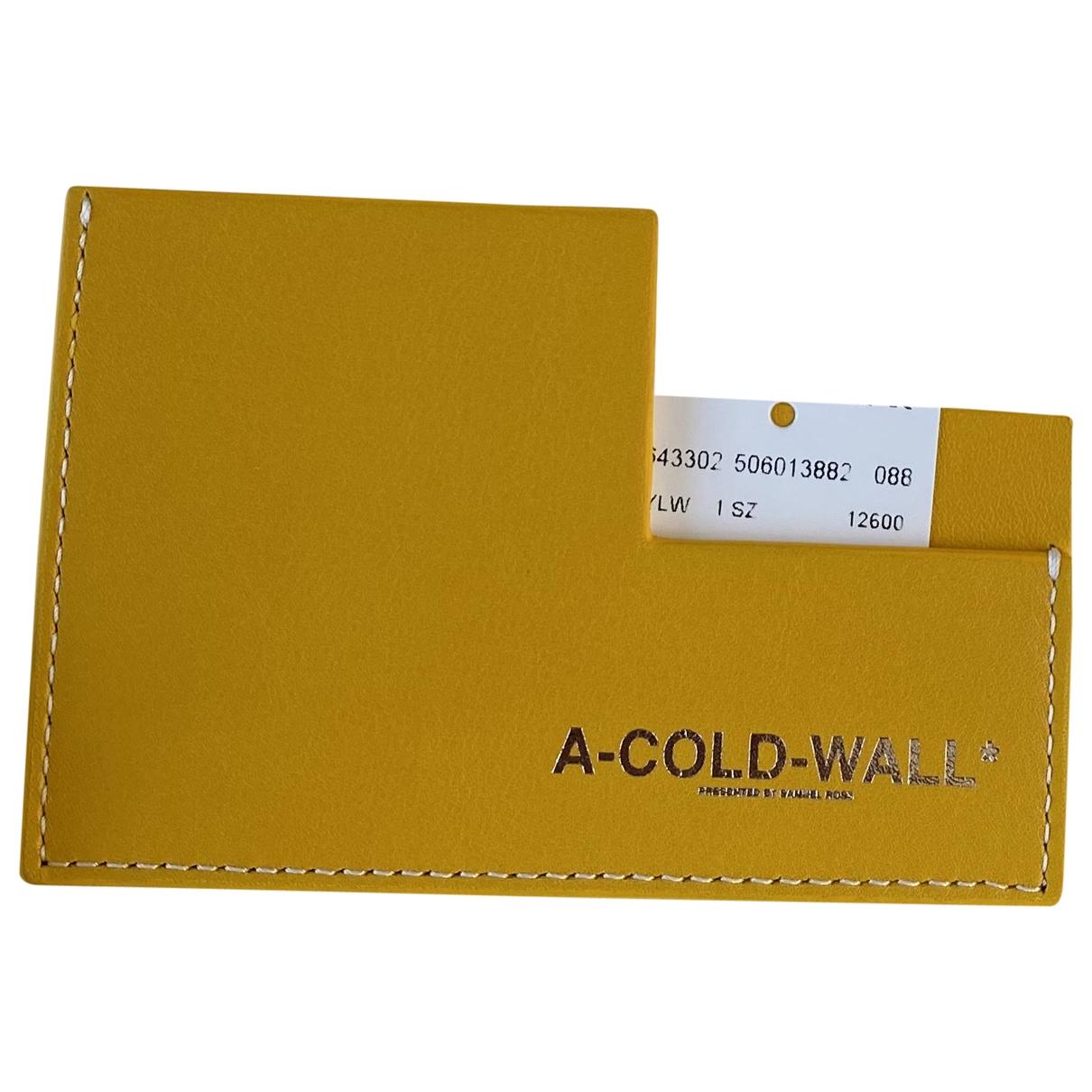 A-cold-wall - Portefeuille   pour femme en cuir - jaune