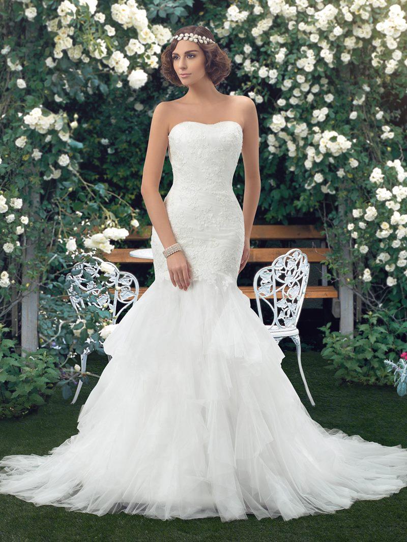 Ericdress Strapless Lace Court Train Mermaid Wedding Dress