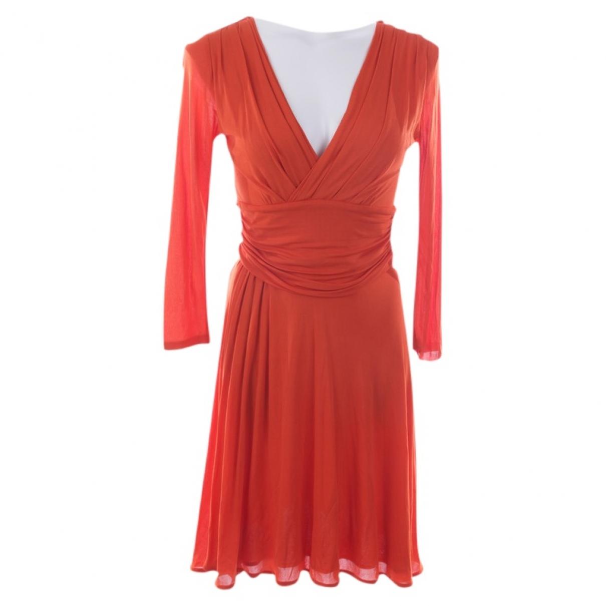 Prada \N Kleid in  Orange Synthetik