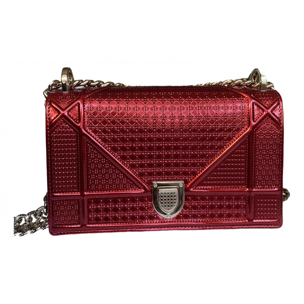 Dior - Sac a main Diorama pour femme en cuir verni - rouge