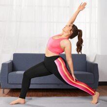 Leggings y pantalones deportivos de talla grande Raya lateral A rayas