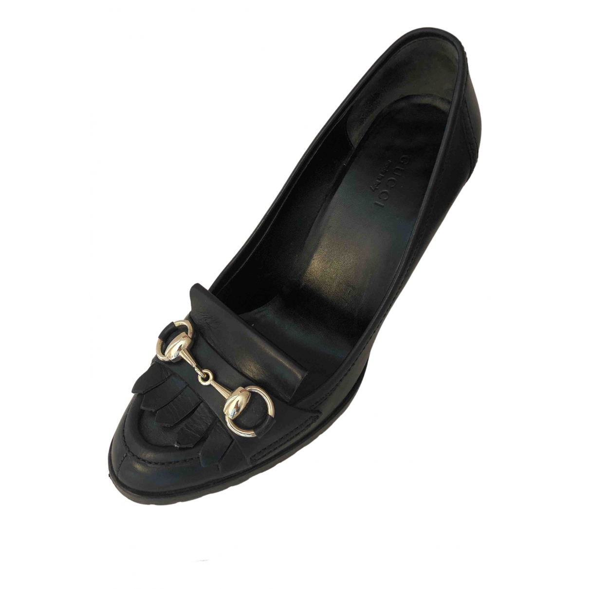 Gucci N Black Leather Heels for Women 36 IT