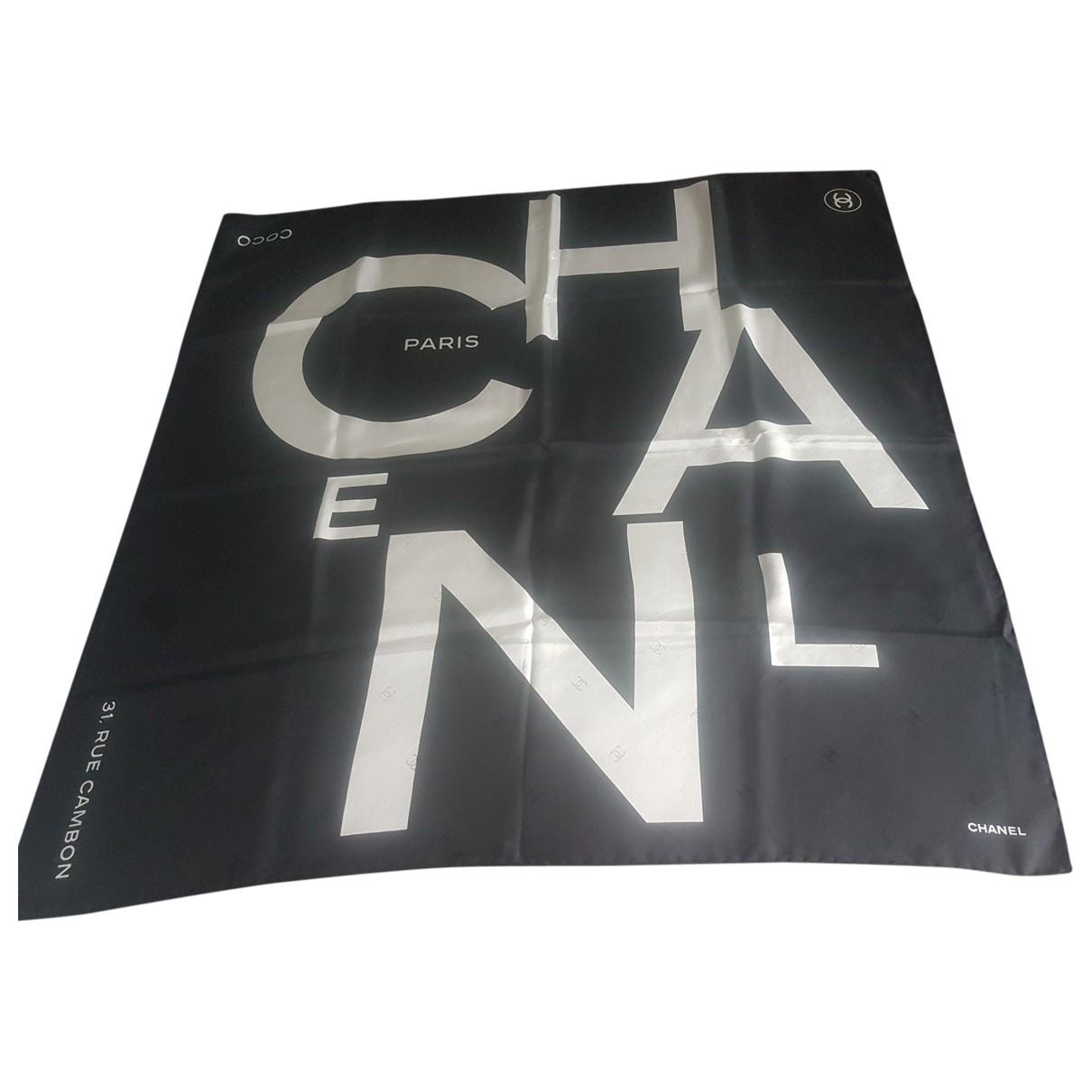 Chanel \N Black Silk scarf for Women \N