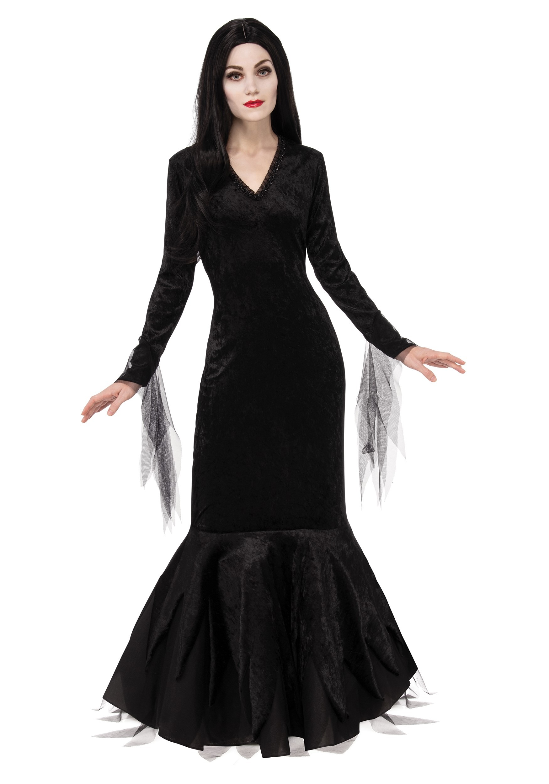Women's Addams Family Morticia Costume