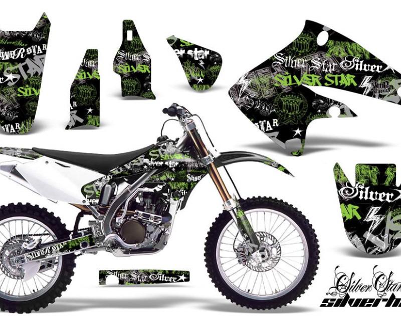 AMR Racing Dirt Bike Graphics Kit Decal Sticker Wrap For Kawasaki KX250F 2004-2005áSSSH GREEN BLACK