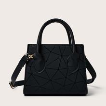 Handtasche mit Geometrie Muster