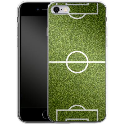 Apple iPhone 6s Silikon Handyhuelle - Soccer Field von caseable Designs