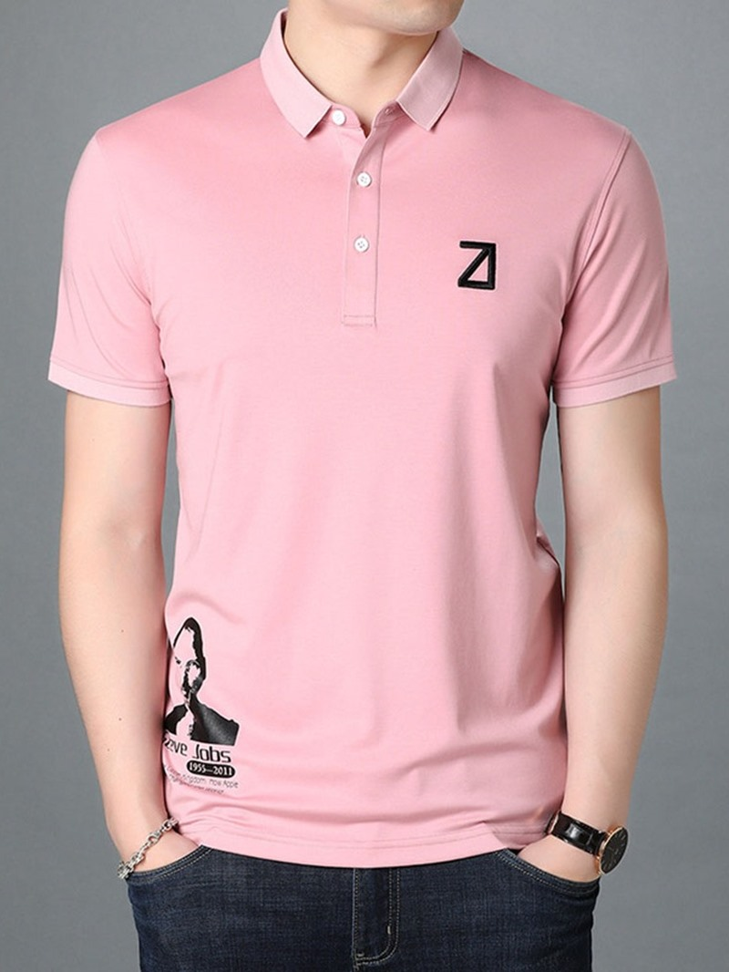 Ericdress Polo Neck Print Casual Polo Men's Shirt