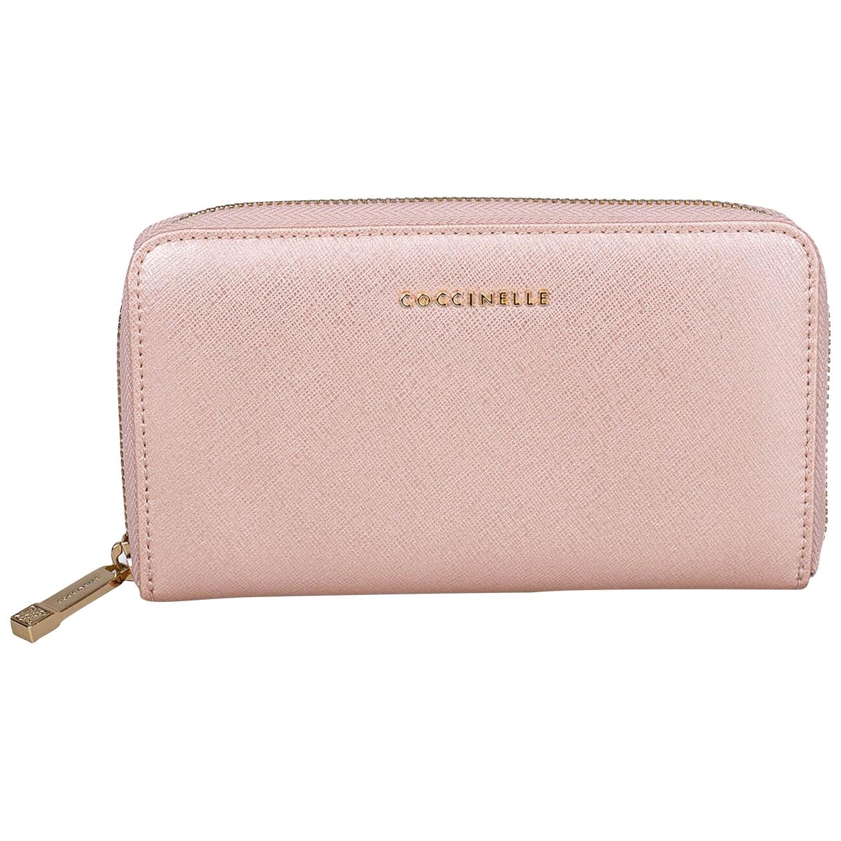 Coccinelle - Portefeuille   pour femme en cuir - rose