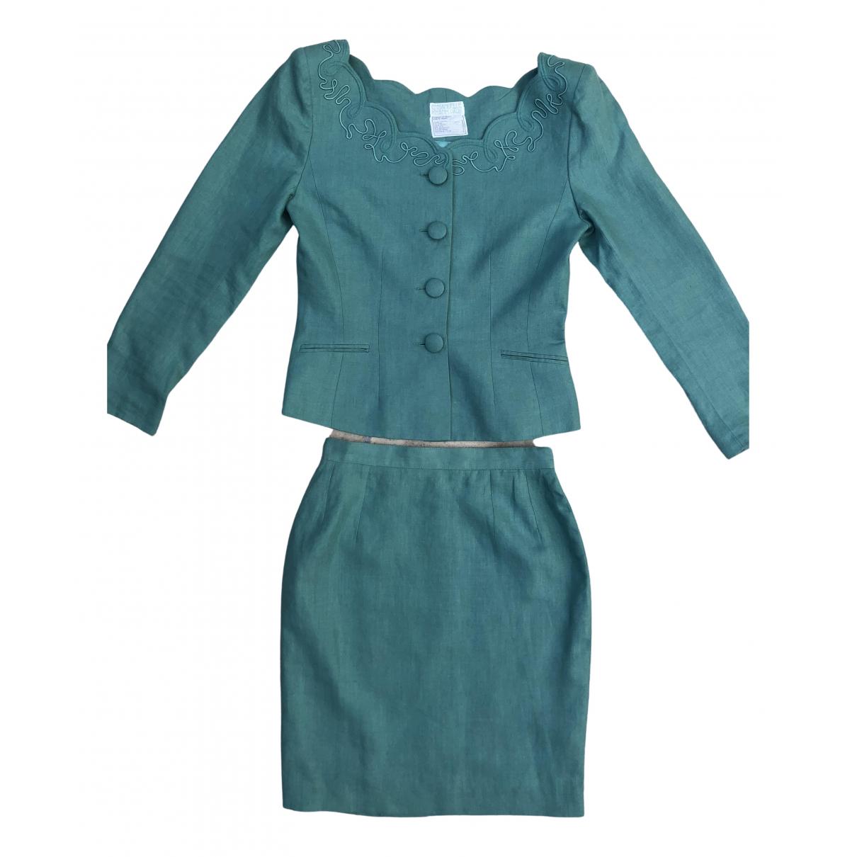 Emmanuelle Khanh - Veste   pour femme en lin - turquoise