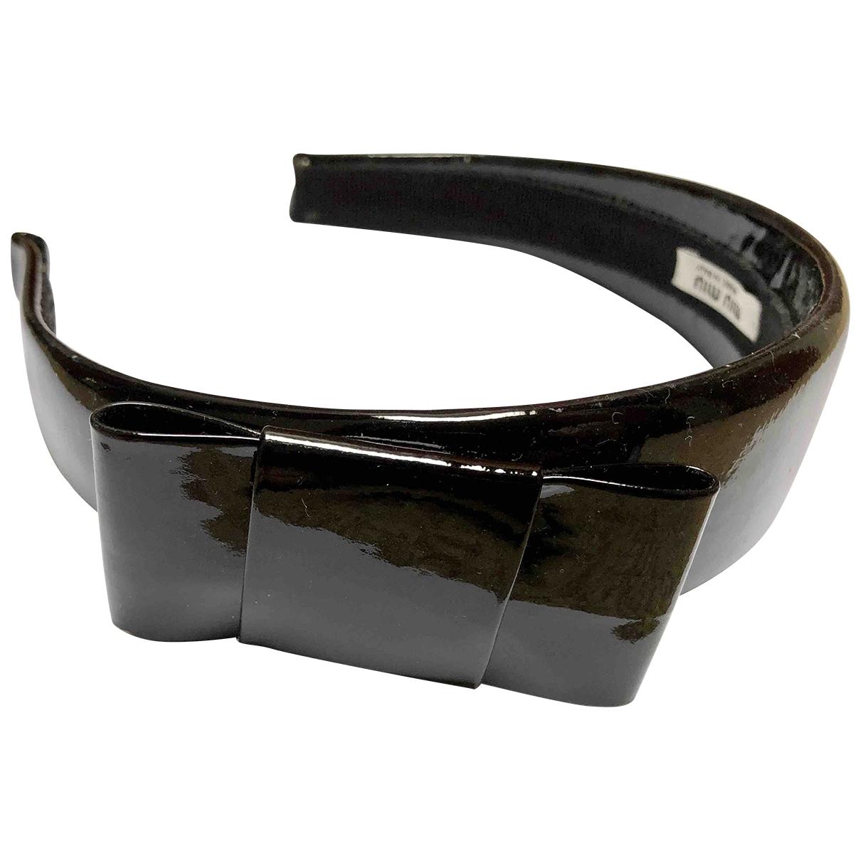 Miu Miu \N Black Leather Hair accessories for Women M International