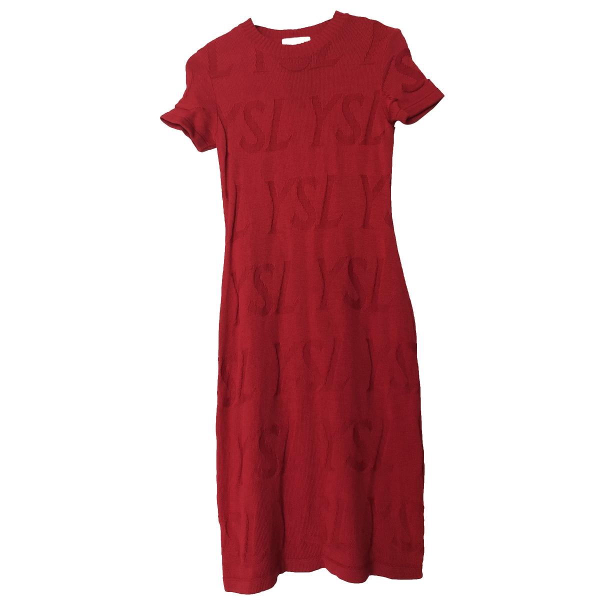 Yves Saint Laurent \N Red Wool Knitwear for Women M International