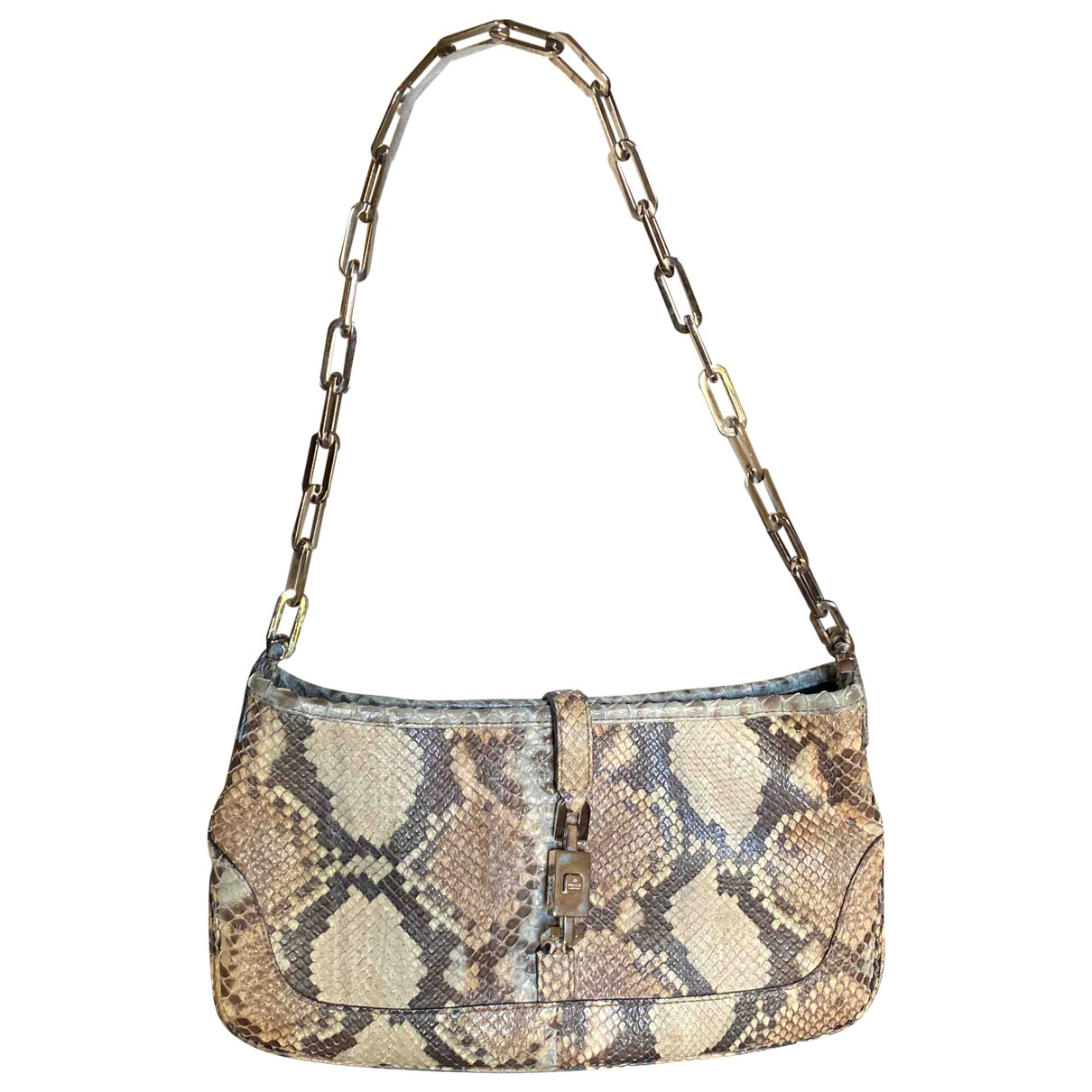 Gucci Jackie Clutch in Python