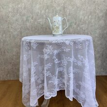 1pc Floral Pattern Lace Tablecloth