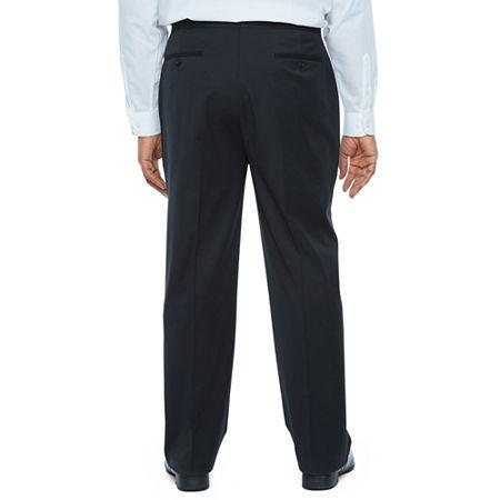 Stafford Travel Mens Regular Fit Tuxedo Pants Big and Tall, 42 34, Black